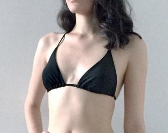 Large TOP- The Waverly String Bikini Black Large