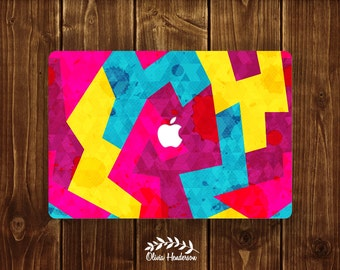 Colourful Patterned Macbook Skin Decal, Laptop Sticker, Macbook Pro Decal, Macbook Air Decal, Color Vinyl Macbook Decal OH002