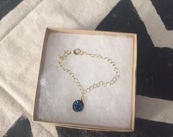 Blue Mystic Charm Bracelet