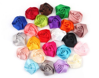"""25 Pieces Rosette flowers 2"""" inches"""