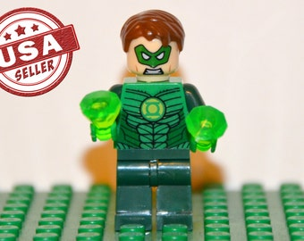 Green Lantern Custom minifigure (Lego Compatible) DC Comic Justice League of America JLA Superhero Hal Jordan Villain Will Power Christmas
