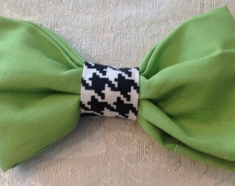 Lime green  dog bow tie
