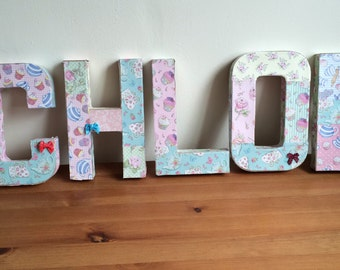 Decoupage names or letters