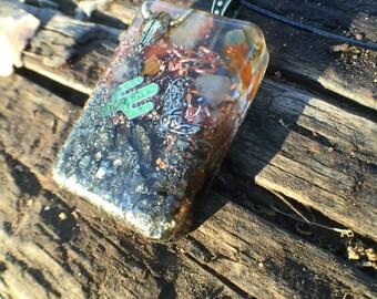 SouthWest Sedona Vortex Orgonite® talisman- Rustic Orgonite® Positive Energy Generator necklace- Desert Sun Vortex Orgonite®