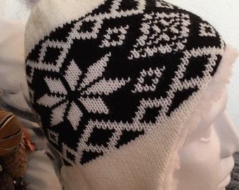 Sheep Wool Hat with pom pom
