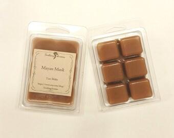 Wax Melt (Mayan Musk scented), soy paraffin wax tarts, wax tarts, fragrance, handmade, tart melts