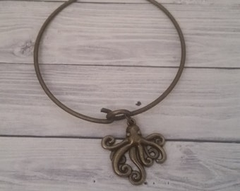 Octopus Bangle Bracelet Nickel-Free