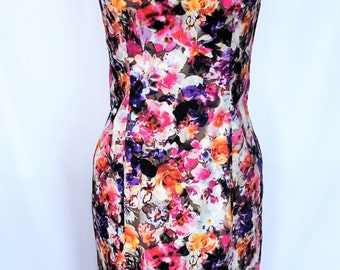 ON SALE - Floral Lilac Dress - Size 12