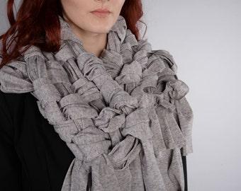 Handmade, oversized, woven scarves