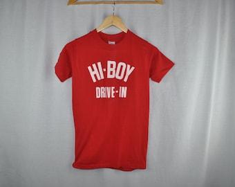 Vintage 1980s  Sports-T by Stedman Hi-Boy Drive-In T-shirt Tee Sz S