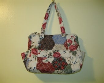 Multi-colored Quilted Handbag