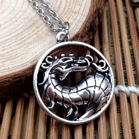 Mens silver dragon necklace mens jewelry by zenchakraboutique for Dragon gifts for men