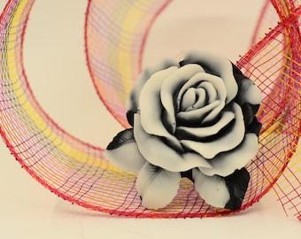 Gradient Black and White Gradient Rose soap