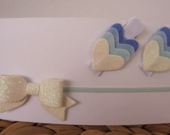 Hair Accessories Pack - Ice White