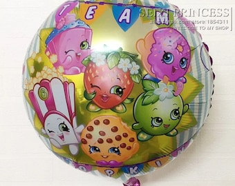 4pack Shopkins  ballons 18 inch  kids party decoration