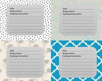 INSTANT DOWNLOAD:  Blank Custom Freezer Meal Labels.  Trending now.  Freezer Bag Labels.  Freezer tags