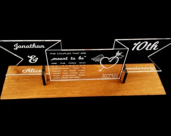 Acrylic Birthday, Wedding, Anniversary Wishes on Wooden Stand, Personalised Plexi Wishes, Birthday Gift, Anniversary Gift