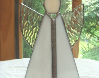 Stained glass free-standing simple Angel