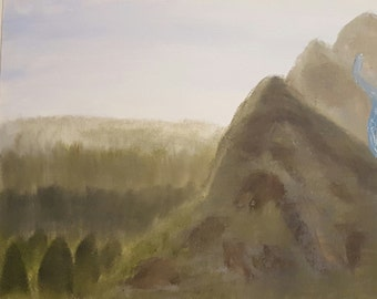 Mountain with an off-colored spring