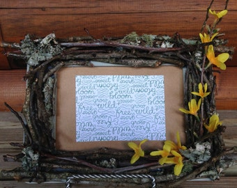Rustic twig 5x7 wooden picture frame