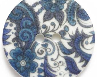 BN1842    oriental button.  2.0cm diam.