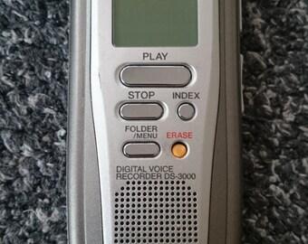 Vintage Olympus DS-3000 Handheld Digital Voice Recorder