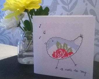 Homemade Card- Birdie