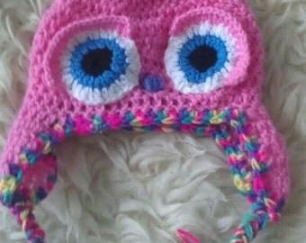 Baby owl hat newborn prop