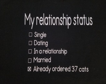 My Relationship Status Cat Lady Shirt