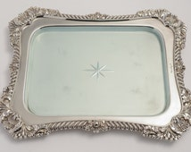 Edwardian English Silver Plated and Glass Bread/Cheese Board (ID 47105)