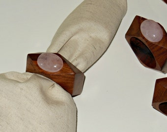 Rose Quartz Napkin Rings – Dining Décor