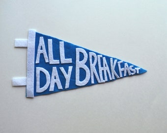 all day breakfast pennant flag