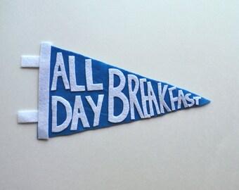 all day breakfast pennant flag