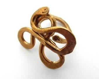 Brass Serpentine Ring