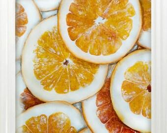Orange original watercolor