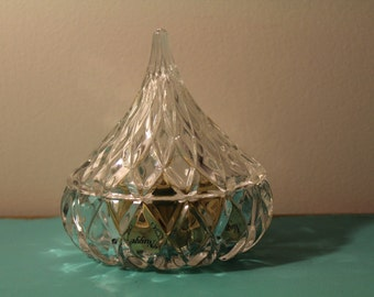 Crystal Hershey Kiss Container - Candy Bowl - Trinket/Jewelry Box - Vintage Home Decor