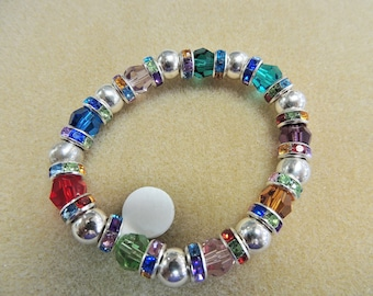 crystal color bracelet