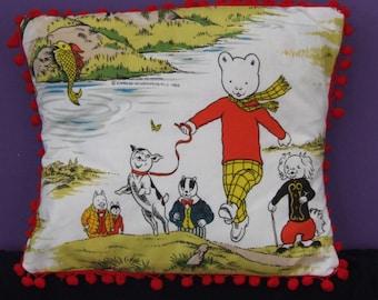 Vintage Rupert the Bear Cushion