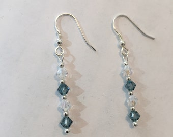 Swarovski crystals dangle earrings