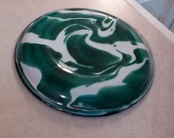 """Emeraldware graniteware coaster 4"""" super rare"""