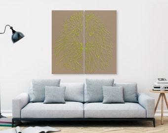 """LINEAR mural """"LEJON"""" (grey Beige)"""