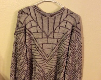 Vintage Open Neck Sweater