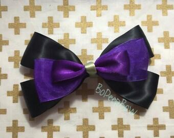 Maleficent Inspired Disney Bow