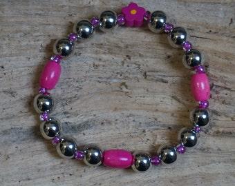 Metallic pearl bracelet and Pearl pink 2153
