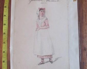 Theatrical Costume design, c 1890