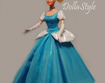 "Barbie Clothes. Barbie Doll Dress ""Cinderella"". Doll outfit (1/6 Scale)"
