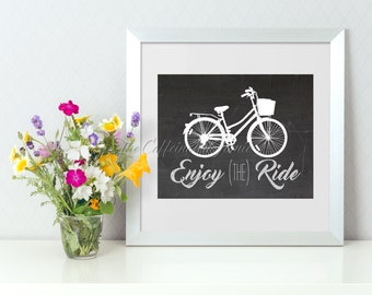 Enjoy the Ride Bicycle Chalkboard Printable