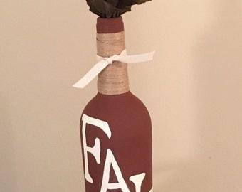 FALL Wine Bottle