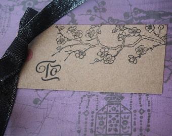 Cherry Blossom Gift Tags/ cherry blossom/ Japanese tags/ Asian/ floral tags/ cherry blossom tags/ sakura