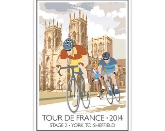 Tour De France Poster, Cycling Gift, Bicycle Art, Limited Edition Print, Collectables
